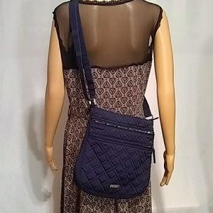 Vera Bradley black quilted crossbody bag